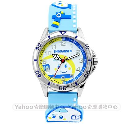 HELLO KITTY 新幹線立體火車造型手錶-水藍/32mm