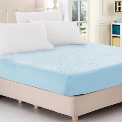 天絲抑菌防蹣吸濕排汗舒柔布100%防水床包式保潔墊-加大
