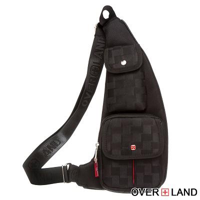 OVERLAND-美式十字軍x潮酷格紋斜背包