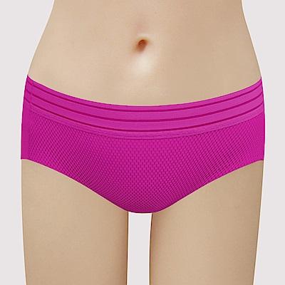 瑪登瑪朵 無鋼圈  低腰寬邊三角無痕內褲(桃紅紫)