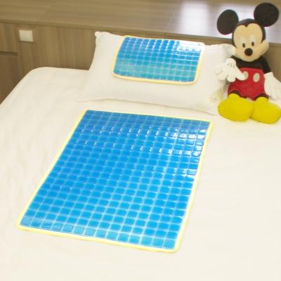 冬夏兩用果凍冷凝膠冰涼墊/枕墊/冷暖兩用 一枕墊+一床墊