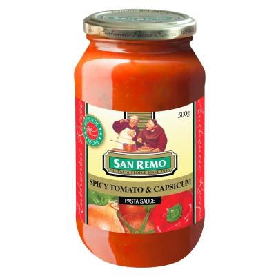 San Remo聖雷蒙 頂級義大利麵醬-蕃茄甜椒(500g)