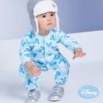 Disney Baby 米奇雪花圓點連身裝 中藍