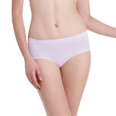 LADY 超彈力親膚無痕系列 中腰低衩三角褲(紫色)