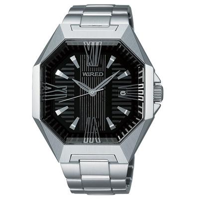 WIRED 星際探險時尚腕錶(AF5033X)-黑x銀/42mm