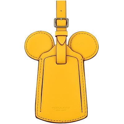 COACH Disney黃色Mickey造型行李吊牌