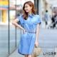 LIYO理優洋裝牛仔襯衫洋裝(藍)