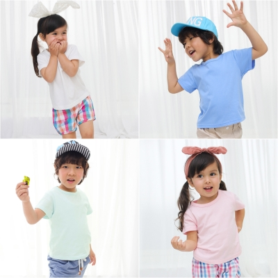 baby童衣 兒童上衣 短袖純棉圓領T素面 61107