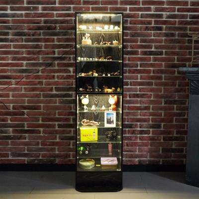 澄境 LED現代萬用180公分玻璃置物櫃(47.5x39.5x180cm)-DIY