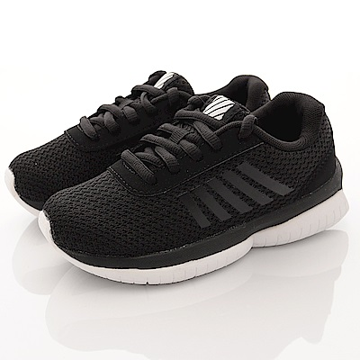 K-SWISS童鞋 針織綁帶款 002黑(中小童段)T2