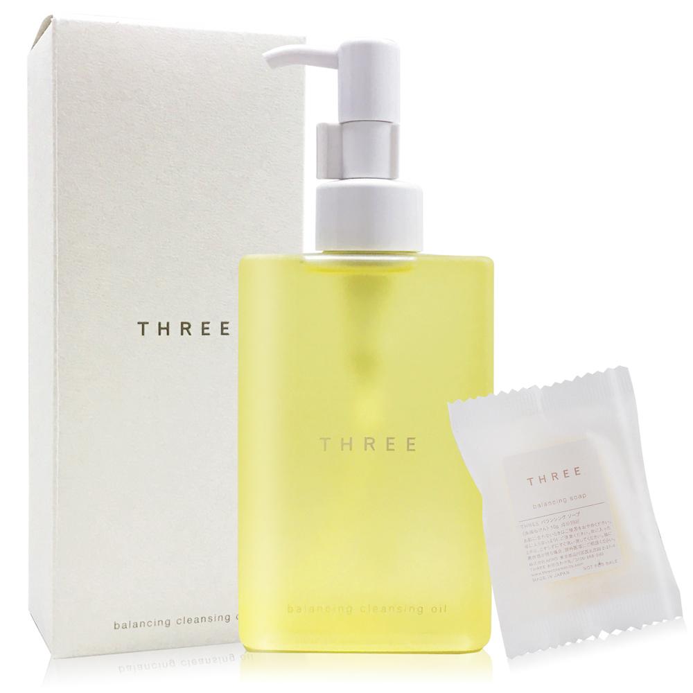 THREE 平衡潔膚油 200ml+平衡洗顏皂 10g