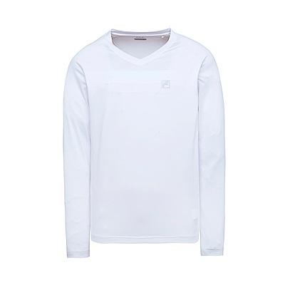 FILA 男抗UV吸濕排汗T恤-白1TES-1300-WT