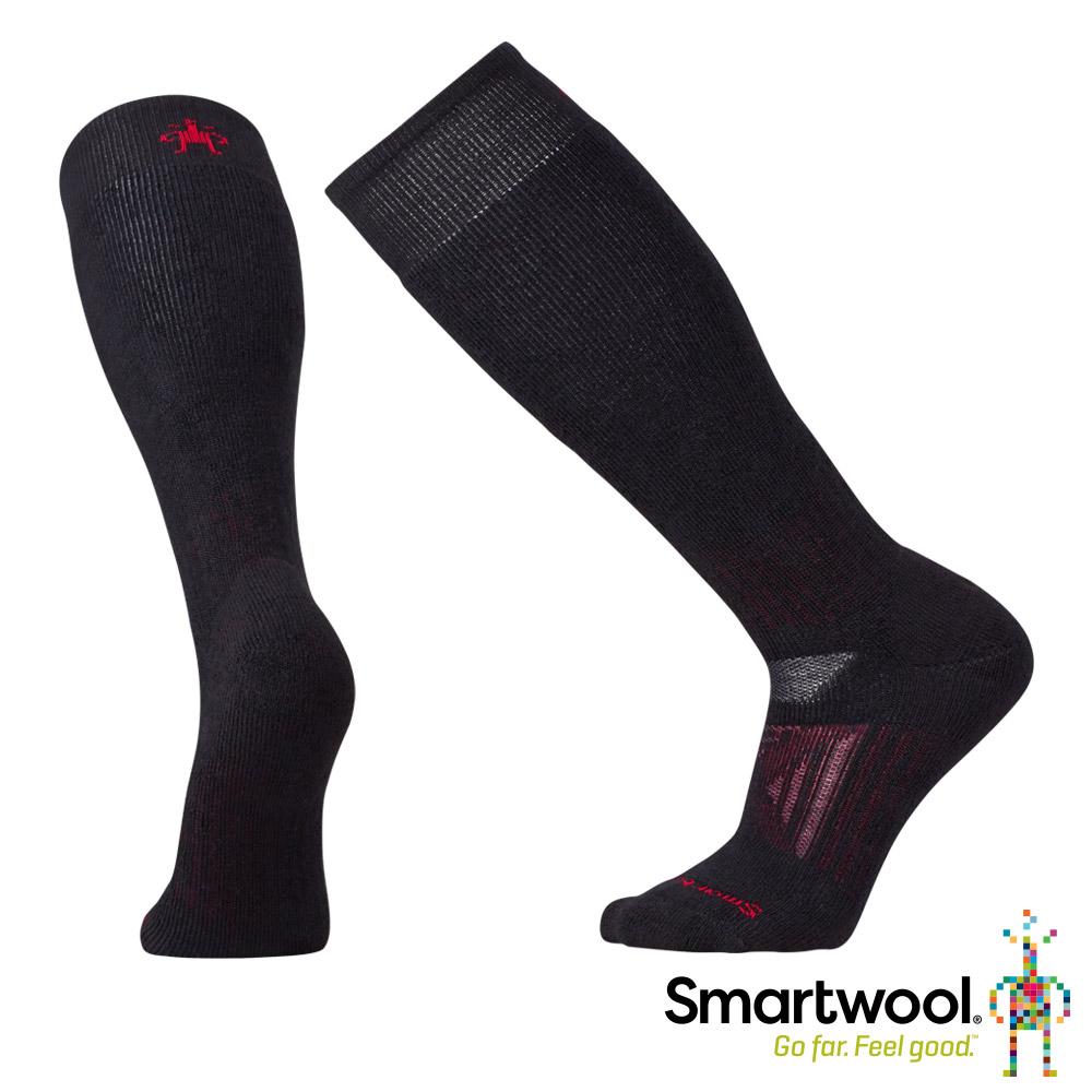 SmartWool 羊毛襪 PhD戶外重量級減震高筒襪 黑色