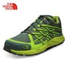 The North Face男款綠色緩衝穩定越野跑鞋