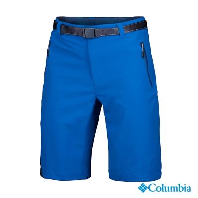 【美國Columbia哥倫比亞】防潑防曬50短褲-男-藍(UAM15800BL)