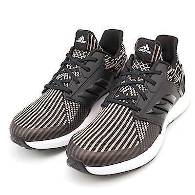 24H-ADIDAS-女慢跑鞋DB0220-黑米黃
