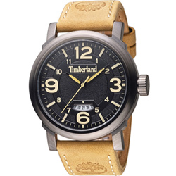 Timberland 城市簡約時尚腕錶-黑/46mm