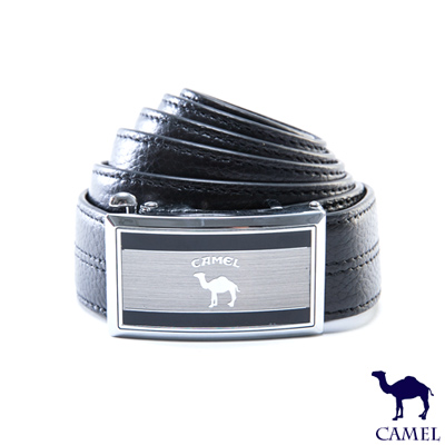 CAMEL - 品味極限款自動滑扣真牛皮皮帶