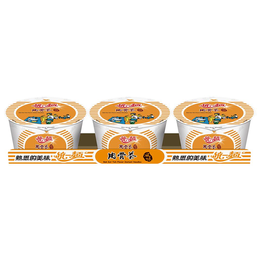 統一麵 肉骨茶風味碗裝(3入/組)