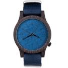 Plantwear 手工木製手錶 Heritage 寶石藍-黑檀木/42mm
