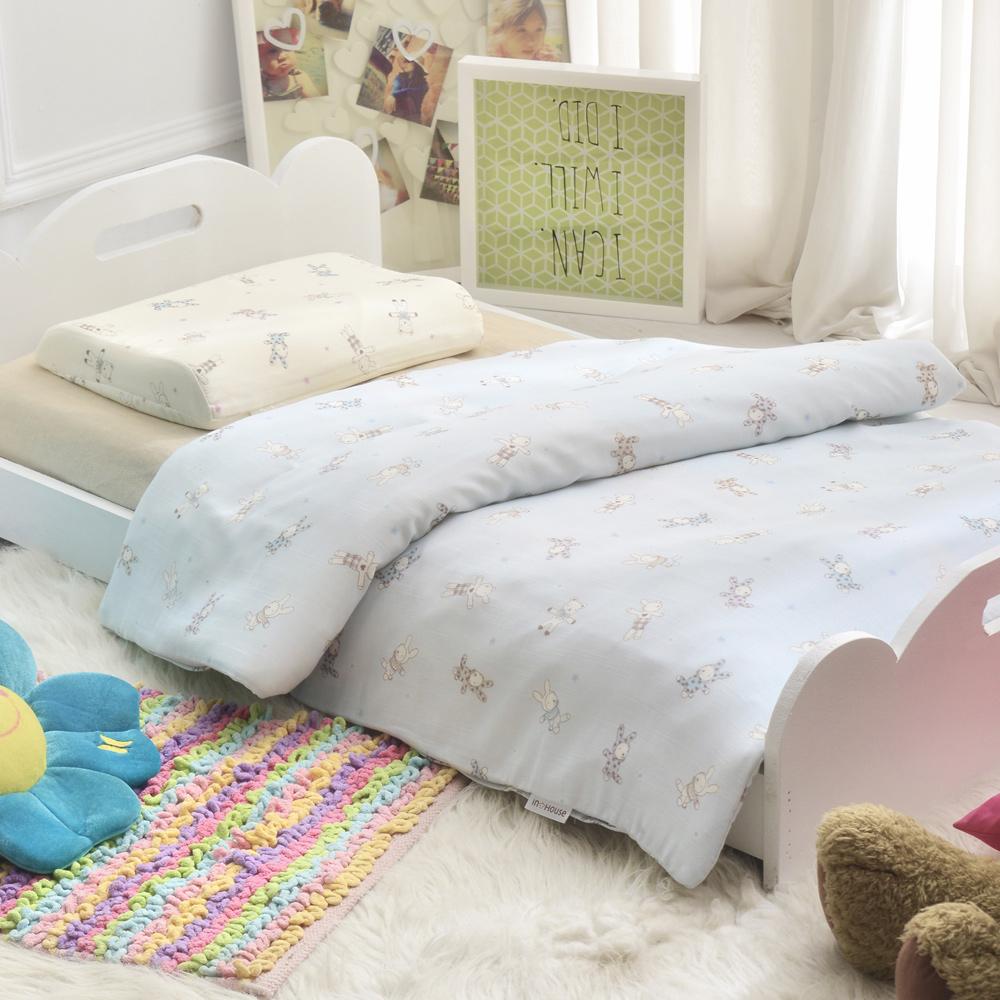 IN HOUSE-藍色兔兔-嬰幼兒六層紗被