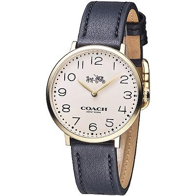 COACH 簡約紐約風數字女錶-金(14502683)/35mm