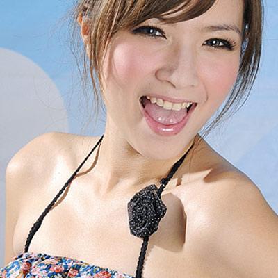 Aimee Toff 百褶花漾水滴繞頸造型肩帶(黑)