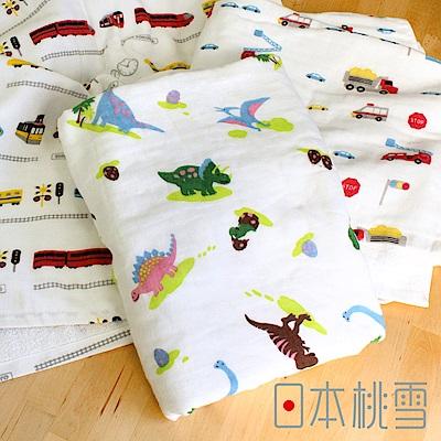 日本桃雪可愛紗布浴巾(小男孩最愛-電車)