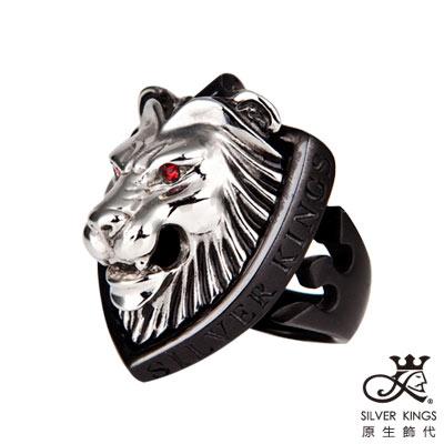 原生飾代SilverKings-獅領域-316L白鋼戒指-銀白