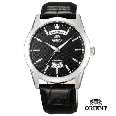 ORIENT 東方錶 WILD CALENDAR系列 寬幅日曆機械錶-黑色/40mm