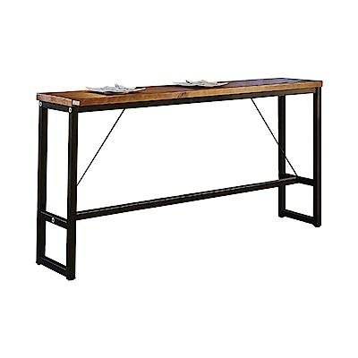 AT HOME-工業風設計6.6尺長型實木鐵藝洽談桌休閒桌吧台桌餐桌(200*40*99c