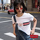 T恤 女裝 短袖純棉TEE 日落 黑紅條紋 - Levis