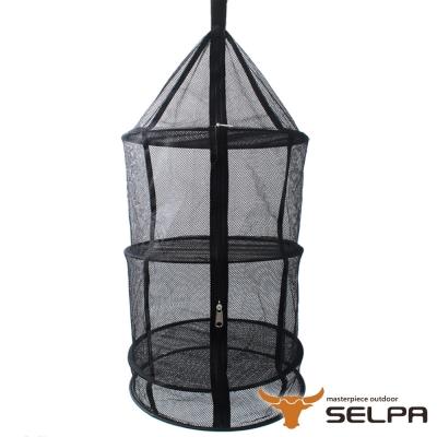 韓國SELPA 四層多功能圓型曬物籃 曬碗 曬衣 戶外 露營