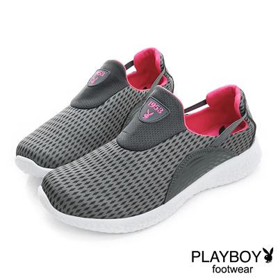 PLAYBOY 動感世代 美式運動風輕量休閒鞋-黑(女)