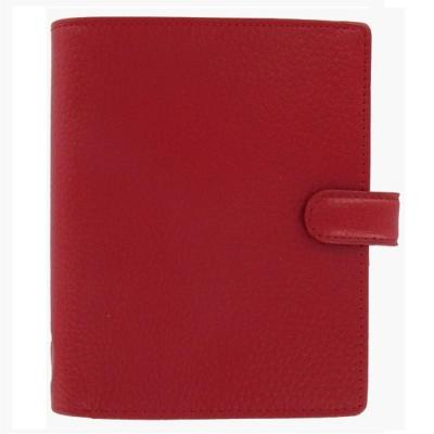 filofax 芬斯貝莉Finsbury 口袋型荔枝紋萬用手冊-紅