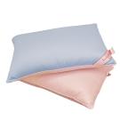 義大利Fancy Belle 漾彩雙色竹炭枕 藍+粉-二入