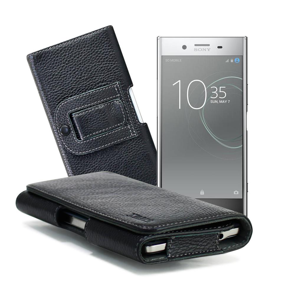 XM SONY XZ Premium / HTC U11 5.5吋 麗緻真皮腰掛皮套