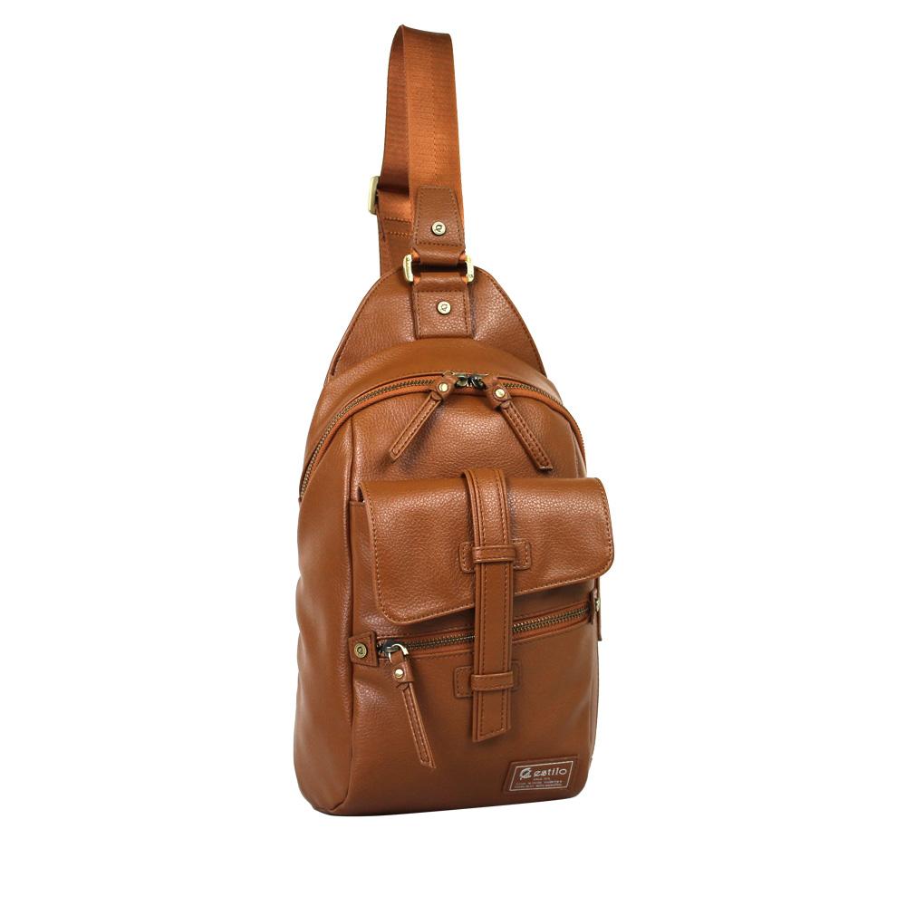 estilo - 印地安II系列 豪放氣勢 直式單肩包 - 棕色