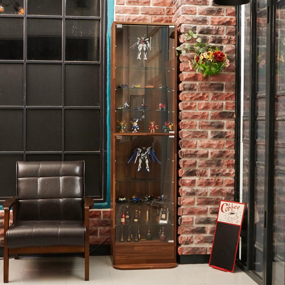 澄境 工業風萬用180cm玻璃置物櫃(47.5x39.5x180cm)-DIY