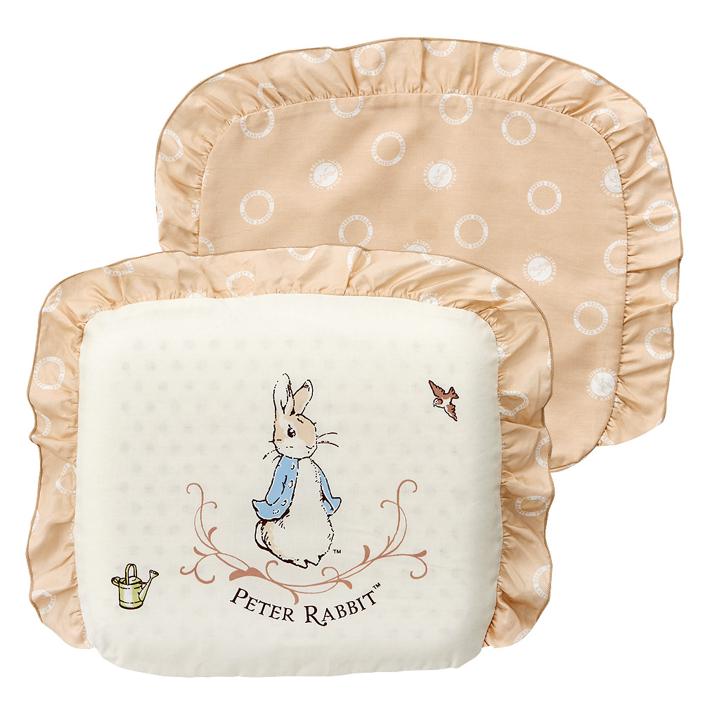 奇哥 優雅比得兔乳膠圓型枕