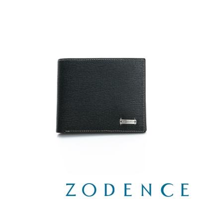 ZODENCE-MAN-紳士系列兩折多卡層短夾-黑