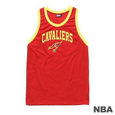 NBA-克里夫蘭騎士隊印花窄肩運動背心-紅 (男)