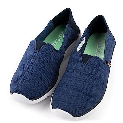 XCESS-女休閒鞋GW050NVY-編織藍
