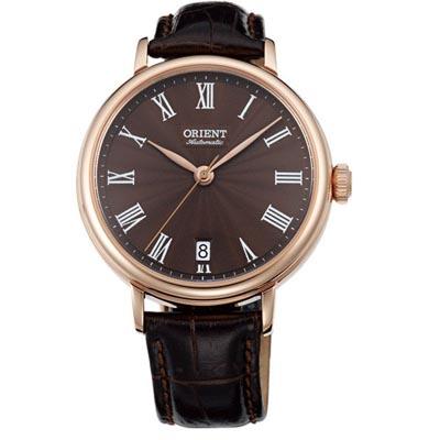 ORIENT 東方錶 羅馬假期 機械錶(FER2K001T)-咖啡/37.5mm