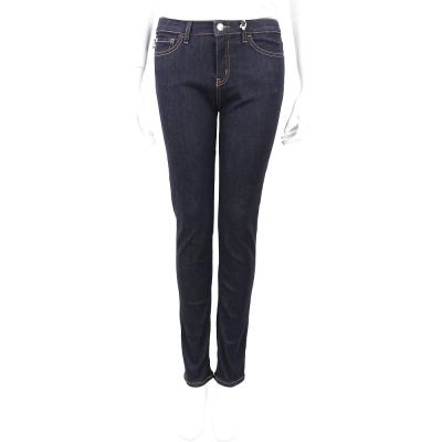 LOVE MOSCHINO 深藍色心型口袋縫線設計牛仔褲