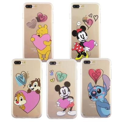 Disney迪士尼iPhone7 Plus透明保護軟套_愛心飛飛