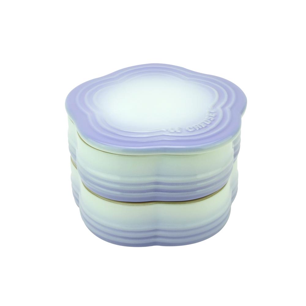 LE CREUSET 瓷器花型收納罐(淡粉紫)