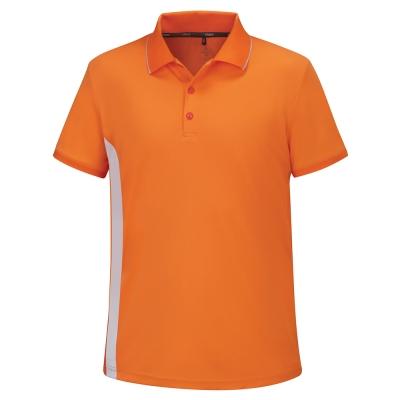 【ATUNAS 歐都納】男款涼感防曬吸濕排汗快乾短袖POLO衫A-P1702M柑紅