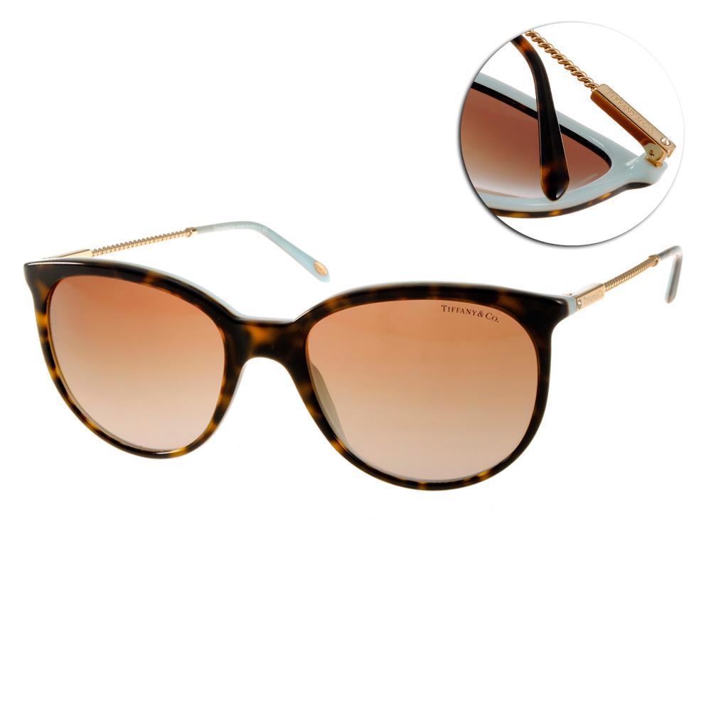 Tiffany&CO.太陽眼鏡 細緻美學/琥珀金#TF4087B 81343B
