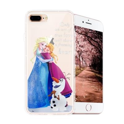 冰雪奇緣展場限定版 iPhone 8 plus/7 plus 空壓殼(艾莎安娜雪...